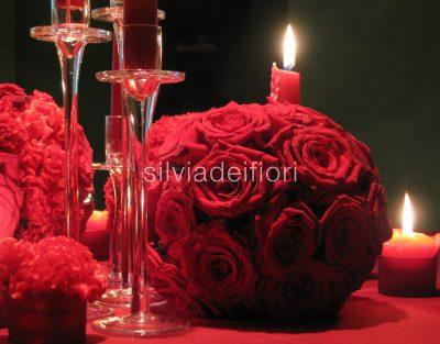 addobbi matrimoni con fiori rossi