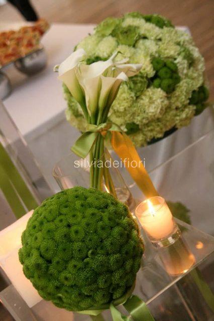 Addobbi chiesa matrimonio bianco e verde migliore for Addobbi tavoli matrimonio con candele