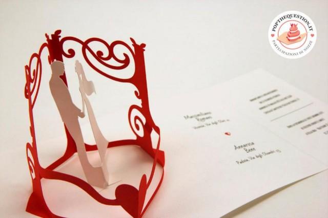 partecipazioni matrimonio pop up
