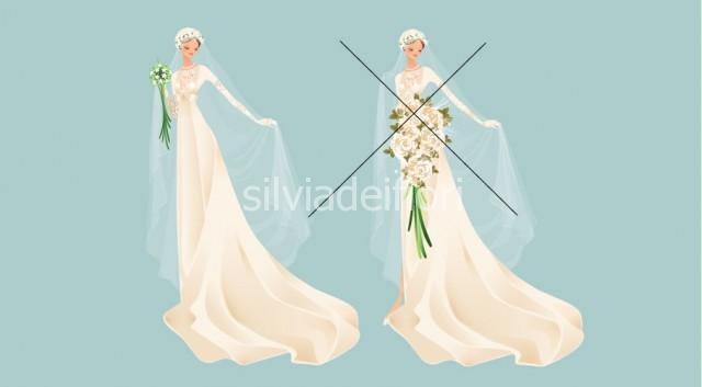 Bouquet per abito stile impero