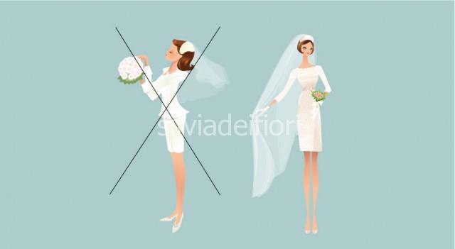 Bouquet da sposa per cerimonia civile con abito metropolitano