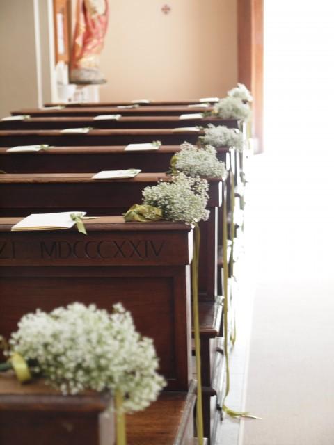 chiesa con velo della sposa