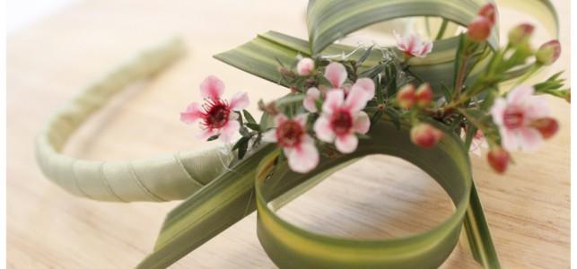 coroncina di fiori per la sposa
