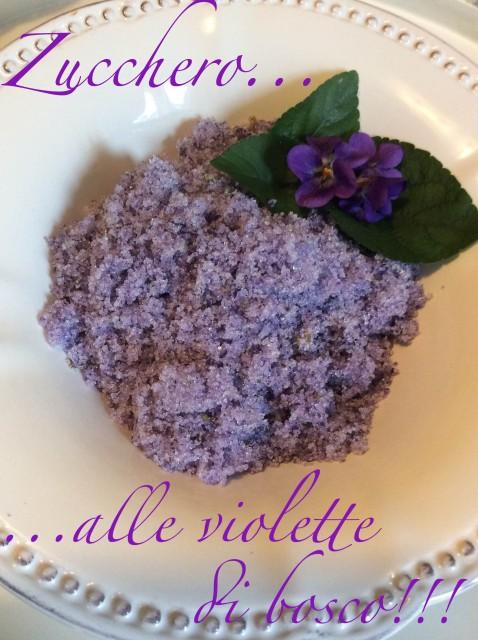 ricetta zucchero alle violette