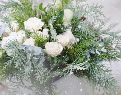 bouquet con verde