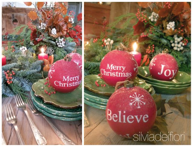 palle rosse merry christmas