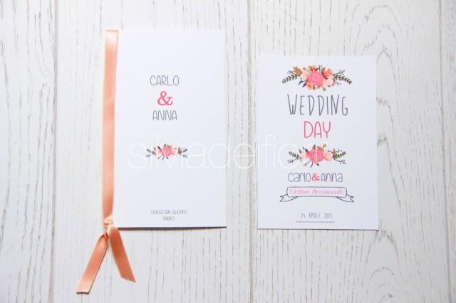 Libretto Messa Matrimonio Country Chic : Kit boho chic style cerimonia silviadeifiori