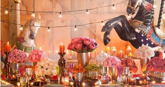matrimonio stile circo allestimento