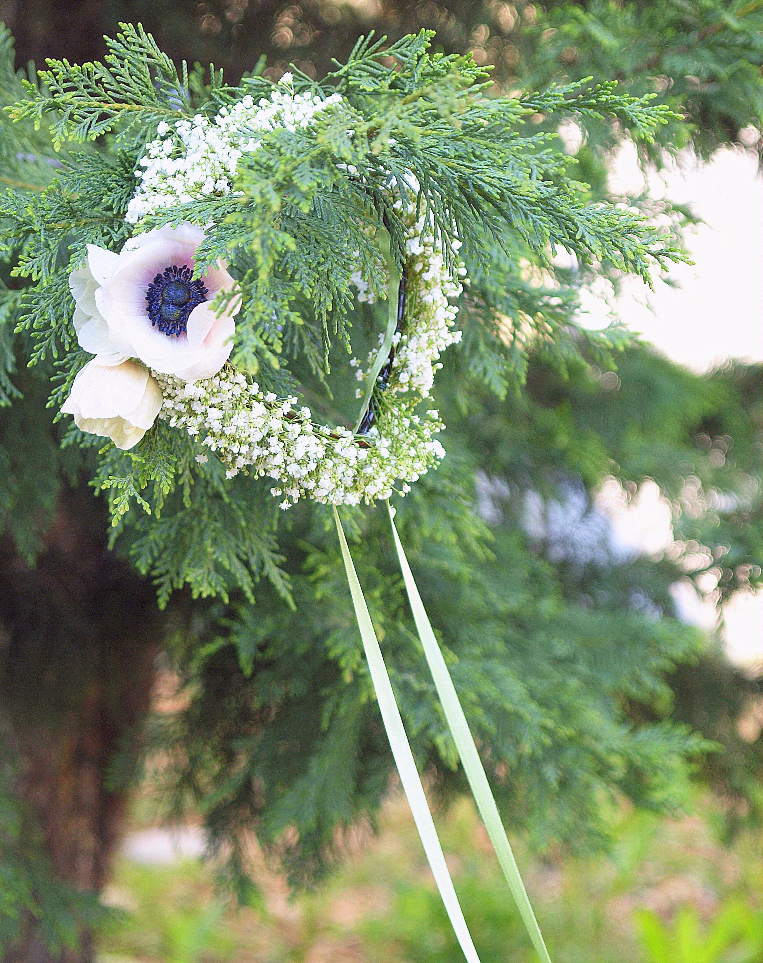 coroncina matrimonio con fiori