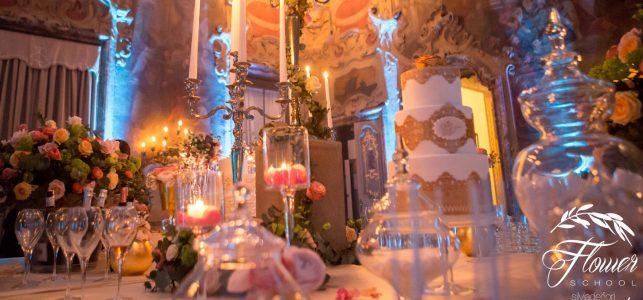 wedding cake gold barocco