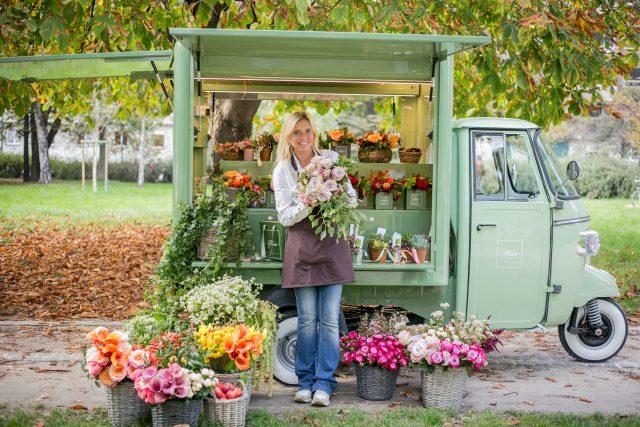 noleggio Apecar food e fiori